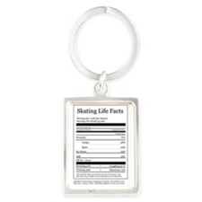 Skating Life Facts Portrait Keychain