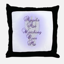Angels Are Watching Over Me copy Throw Pillow