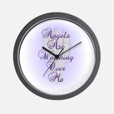 Angels Are Watching Over Me copy Wall Clock