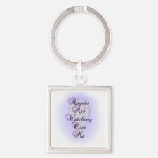 Angels Are Watching Over Me copy Square Keychain