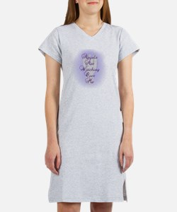 Angels Are Watching Over Me cop Women's Nightshirt