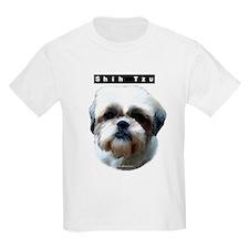 Shih Tzu Head Kids T-Shirt