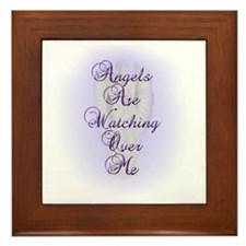 Angels Are Watching Over Me copy Framed Tile