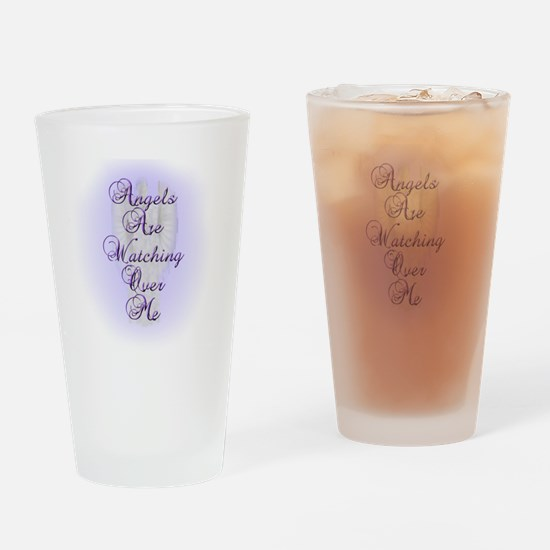 Angels Are Watching Over Me copy Drinking Glass