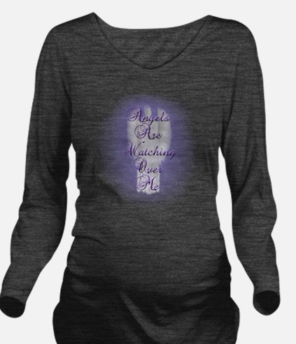 Angels Are Watching  Long Sleeve Maternity T-Shirt
