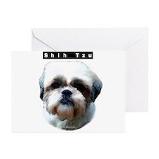 Shih Tzu Head Greeting Cards (Pk of 10)