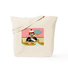 Sock Monkey Sushi Boat Tote Bag