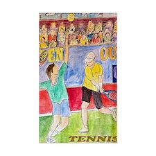 tennis frame print Decal