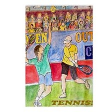 tennis frame print Postcards (Package of 8)