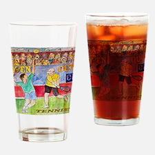 tennis plus apparel Drinking Glass
