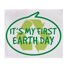 Babys First Earth Day Throw Blanket