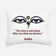the mind is copy Rectangular Canvas Pillow
