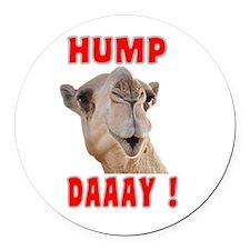 Hump Daaay Camel Round Car Magnet