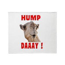 Hump Daaay Camel Throw Blanket