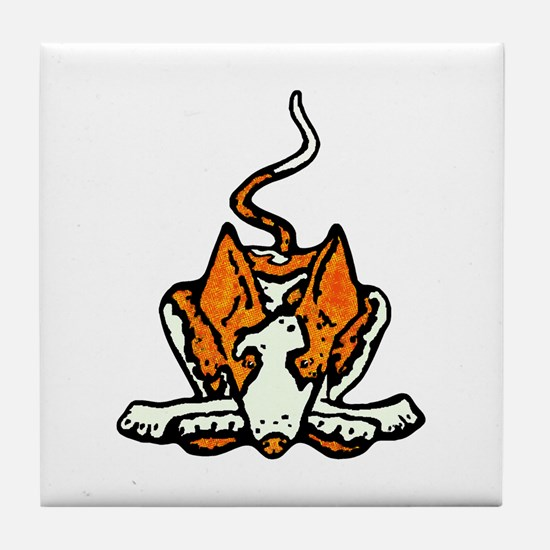 Ib in Orange Tile Coaster