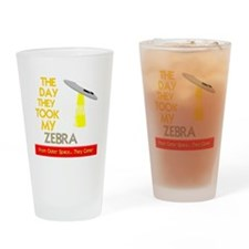 funny zebra designs Drinking Glass