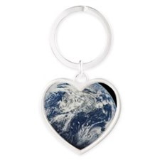 i4slidrearthinspace Heart Keychain
