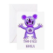 2 face copy Greeting Card