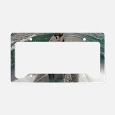 boston large poster License Plate Holder