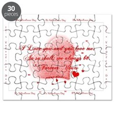 Happy Valentines Love YOu inside2 Puzzle
