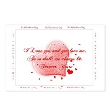 Happy Valentines Love YOu Postcards (Package of 8)