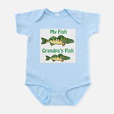 Mine/Grandpa's Fish Infant Bodysuit
