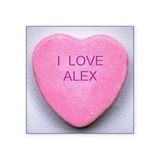 """HEART ALEX Square Sticker 3"""" x 3"""""""