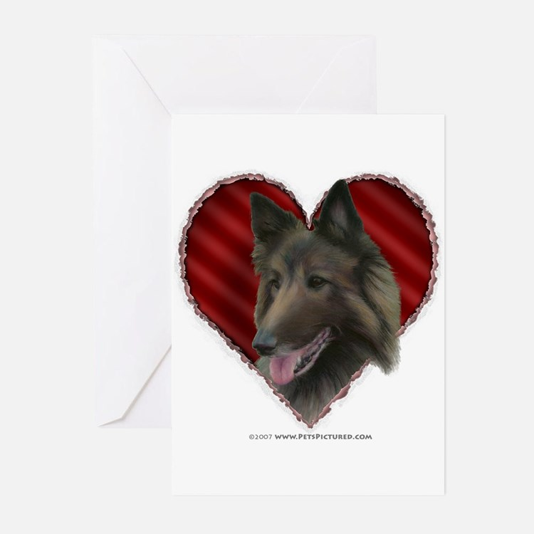 Belgian Tervuren Valentine Greeting Cards (Package