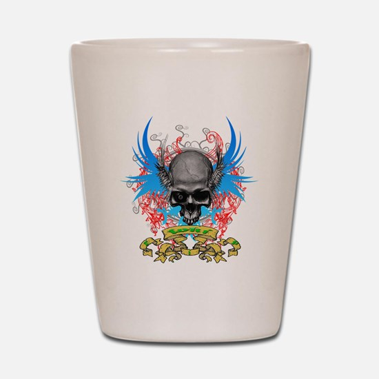 Loki rip Skullz 2 edit Shot Glass