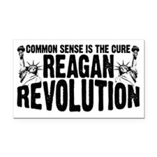 Reagan Revolution Rectangle Car Magnet