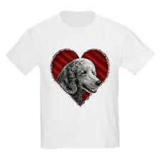 Poodle Valentine Kids T-Shirt