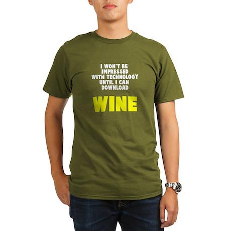 Download Wine Organic Men's T-Shirt (dark)