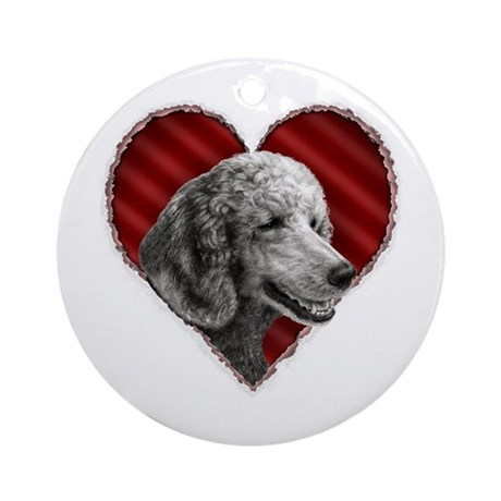 Poodle Valentine Ornament (Round)