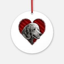 Poodle Valentine Ornament (Round)