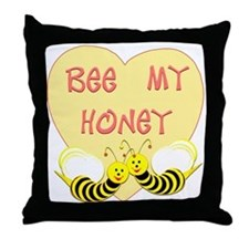 """Bee My Honey'"" Throw Pillow"