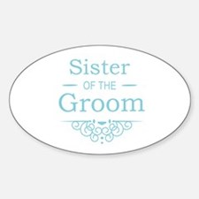 Sister of the Groom blue Decal
