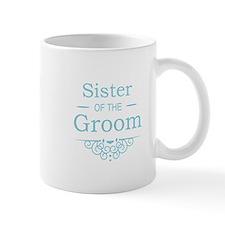 Sister of the Groom blue Mugs