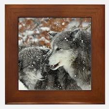 ms shn wolf Framed Tile