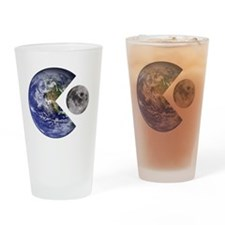pac-man earth Drinking Glass