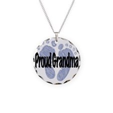 Proud Grandma (Boy) Necklace Circle Charm