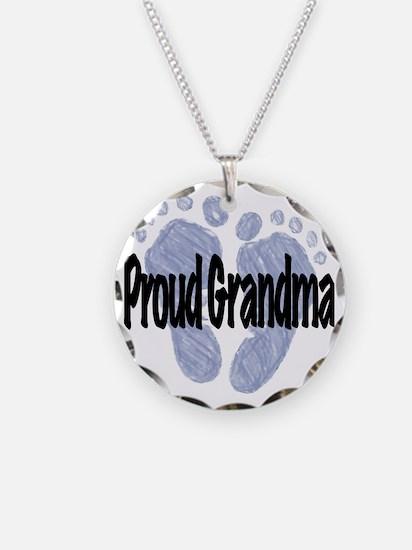 Proud Grandma (Boy) Necklace Circle Charm