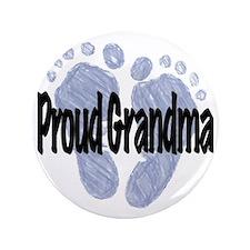 "Proud Grandma (Boy) 3.5"" Button"