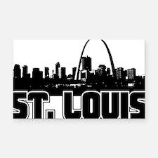 St. Louis Skyline Rectangle Car Magnet