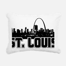 St. Louis Skyline Rectangular Canvas Pillow