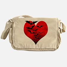 Heart_Bats_Dark_T Messenger Bag