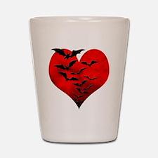 Heart_Bats_Dark_T Shot Glass