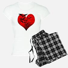 Heart_Bats_Dark_T Pajamas
