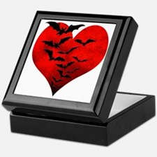 Heart_Bats_Dark_T Keepsake Box