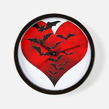 Heart_Bats_Dark_T Wall Clock