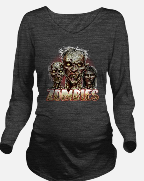 zombies Long Sleeve Maternity T-Shirt
